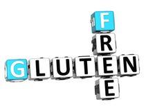 3D glutenu Crossword sześcianu Bezpłatni słowa Obraz Stock