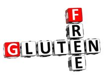 3D glutenu Crossword sześcianu Bezpłatni słowa Obrazy Royalty Free
