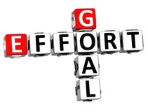 3D Goal Effort Crossword. On white background Stock Image
