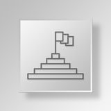 3D goal icon Business Concept Royalty Free Stock Image