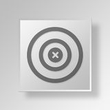 3D goal icon Business Concept Royalty Free Stock Photography
