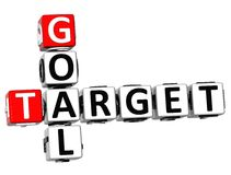 3D Goal Target Crossword. On white background Stock Images