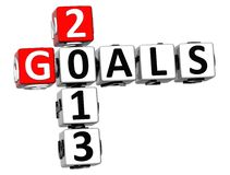3D Goals 2013 Crossword. On white background Stock Images