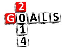 3D Goals 2014 Crossword. On white background Stock Images
