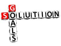 3D Goals Solution Crossword. On white background Royalty Free Stock Images