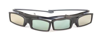 3D goggled voor het theater van de huisbioskoop Stock Foto