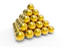 3d Gold ball pyramid Royalty Free Stock Photo