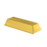 3D Gold Bar isolated. In white background Stock Image
