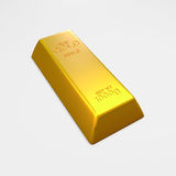 3d gold bar. Royalty Free Stock Photos