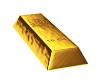 3d gold bar. In white background Stock Image