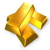 3d gold bars. 3d gold bars isolated on white with clipping path Stock Image