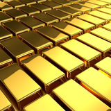 3d Gold bars. 3d render of a gold bars Stock Images