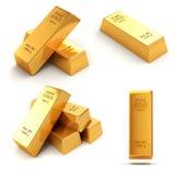 3d gold bars. On white background Stock Images
