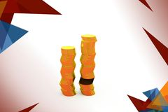 3d gold coin illustration Royalty Free Stock Photos