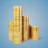 3d gold coins Royalty Free Stock Photo
