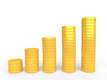 3d gold coins stack Stock Images