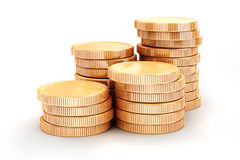3d gold coins Royalty Free Stock Photography