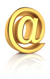 3D Gold Email Sign Stock Image