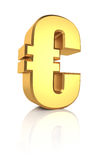 3D Gold Euro Sign Stock Images