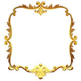 The gold framework Royalty Free Stock Images