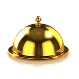 3d Gold hotel reception bell Royalty Free Stock Photography