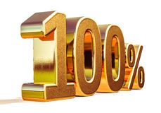 3d Gold 100 Hundred Percent Discount Sign Stock Images