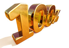 3d Gold 100 Hundred Percent Discount Sign Stock Photos