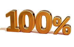 3d Gold 100 Hundred Percent Discount Sign Royalty Free Stock Photos