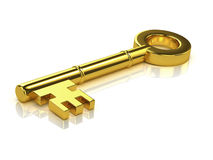 3d Gold key Stock Images