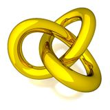 3D Gold Knot Royalty Free Stock Images