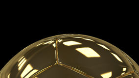 3d gold luxury soccer ball background. 3d render illustration Royalty Free Stock Images