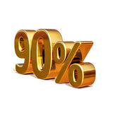 3d Gold 90 Ninety Percent Discount Sign Royalty Free Stock Photography