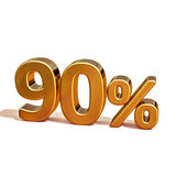 3d Gold 90 Ninety Percent Discount Sign Stock Image