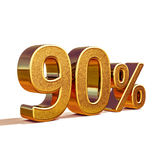 3d Gold 90 Ninety Percent Discount Sign Stock Images
