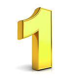 3D gold number one Royalty Free Stock Photo