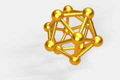 3D gold objects. Stock Photos
