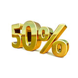 3d Gold 50 Percent Sign Royalty Free Stock Photography