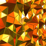 3d gold polygonal background Royalty Free Stock Photography