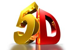 5D gold and red. royalty free illustration