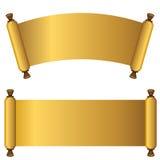 3d Gold Scroll Set Royalty Free Stock Photos