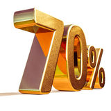 3d Gold 70 Seventy Percent Discount Sign Royalty Free Stock Photos