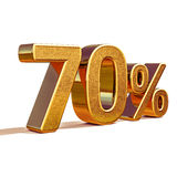 3d Gold 70 Seventy Percent Discount Sign Stock Image