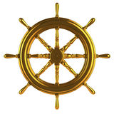 3d Gold ships wheel Royalty Free Stock Images