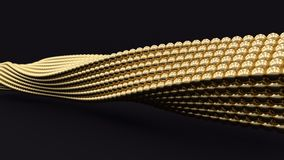 3D gold spiral background. Business concept illustration Royalty Free Stock Photography