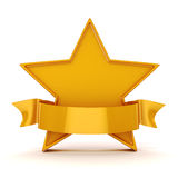 3d gold star on white background Royalty Free Stock Images