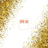 3d Gold stars. Confetti celebration, Falling golden abstract dec. Oration for party, birthday celebrate, anniversary or event, festive. Festival decor. Vector Royalty Free Stock Photography