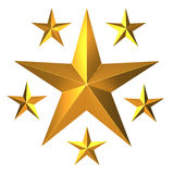 3d Gold stars Royalty Free Stock Photos