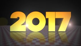 2017 3D Gold Text. Happy New Year 2017  3D Gold Text- 3D Text Gold Full HD stock video footage
