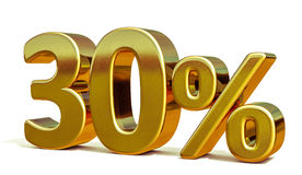 3d Gold 30 Thirty Percent Discount Sign. Gold Sale 30%, Gold Percent Off Discount Sign, Sale Banner Template, Special Offer 30% Off Discount Tag, Thirty Stock Images