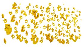 D gold tl symbol turkish liras isolated, turkish lira symbol stock photography